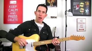 Rock Guitar Soloing Trick - Using Open Strings in A Minor Pentatonic