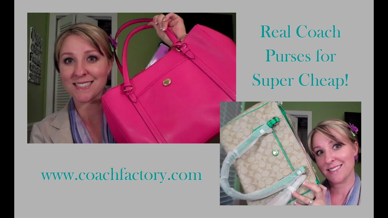 3ec6d5a774 Real Coach Purses for Cheap!!! - YouTube
