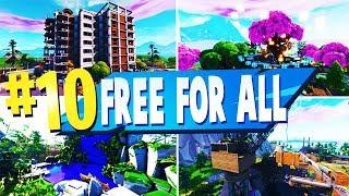 TOP 10 melhor gratuito para todos os mapas criativos em Fortnite (códigos de mapa FFA Fortnite)
