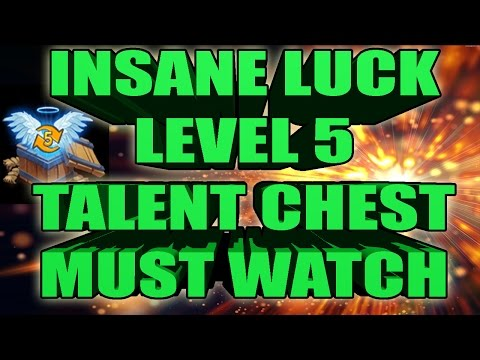 Castle Clash Opening Level 5 Talent Chest Greatest Talent Ever