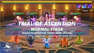 summoners war toa trial of ascension normal f70 neostone agent dark sylvia