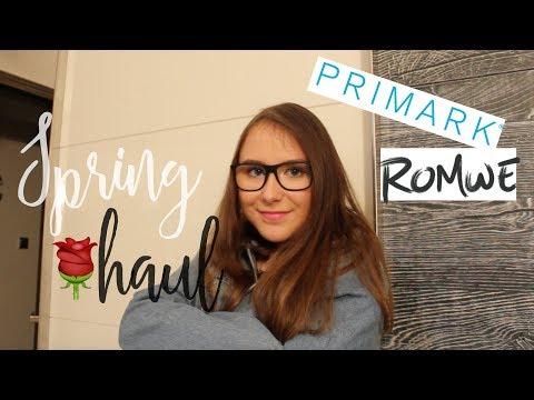 PRVNÍ JARNÍ HAUL 2018| PRIMARK, ROMWE, CK,...