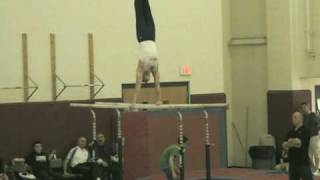 David Frankl on Parallel Bars NJ State Gymnastics Championship 2010.mpg