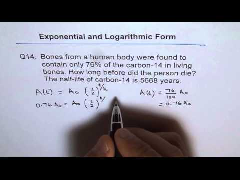 Bones Carbon Dating Log Application Q14