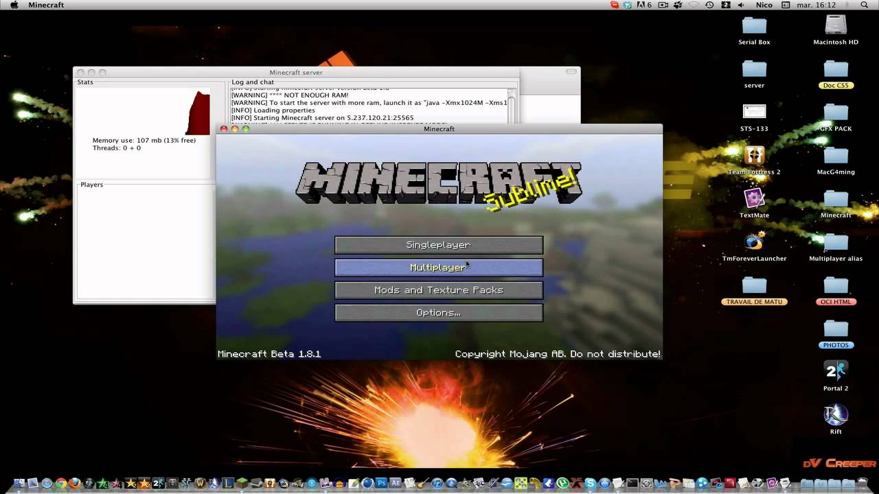 tuto minecraft   comment jouer une map solo en multi