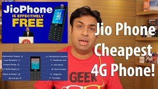 Jio Phone Announced Cheapest 4G Phone in the World with Rs 153/month Plan