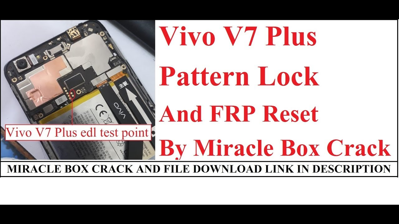 Vivo V7 plus android 8 1 Pattren Lock and FRP Reset by miracle box crack by  Sahil Mobile Solution