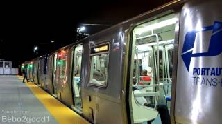 PATH Rail: Single Newark - WTC Train at Harrison, NJ [PA5]