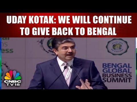 Uday Kotak: We Will Continue to Give Back to Bengal | Bengal Global Business Summit | CNBC TV18