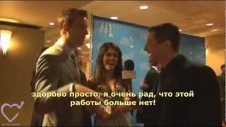Interview Justin & Lindsay Hartley (RUS SUB)