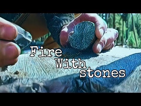 Marcasite and flint fire in beautiful nature