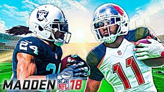 EPIC FINISH IN FIRST H2H GAME! | Madden NFL 18 Online Gameplay (Buccaneers vs Raiders)