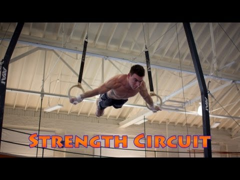 Gymnastics Conditioning Circuit Training at The University of Illinois Gymnastics