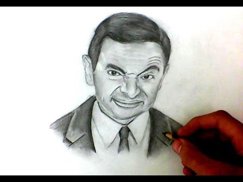 Рисую портрет Мистера Бина / Drawing a portrait of Mr. Bean