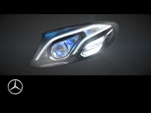 Headlamps In The New Mercedes-Benz E-Class: MULTIBEAM LED