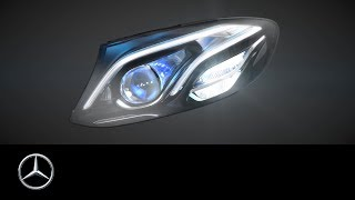 MULTIBEAM LED headlamps in the new E-Class - Mercedes-Benz original(In the new Mercedes-Benz E-Class the optional high-resolution MULTIBEAM LED headlamps, each with 84 individually controlled high-performance LEDs, ..., 2016-03-08T23:00:01.000Z)