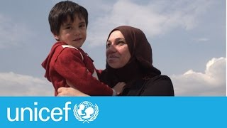 Stranded Syrian mother receives life-changing news | UNICEF