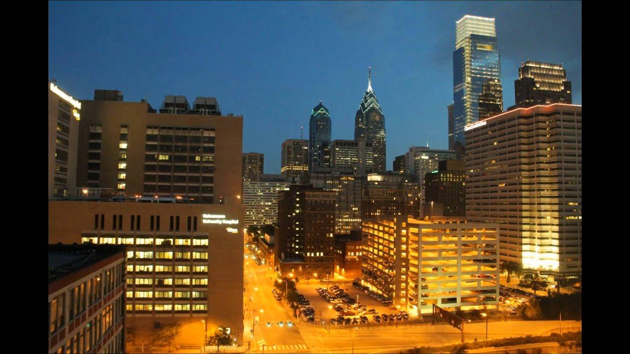 center city philadelphia skyline day to night time lapse youtube. Black Bedroom Furniture Sets. Home Design Ideas