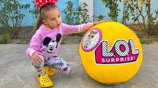 Веселые видео про гигантские шары LOL Surprises от Like Masha tv