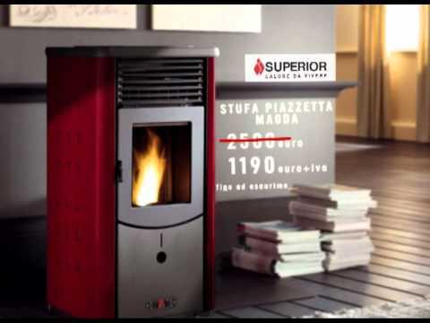 Stufa pellet promozione 8 kw a solo 1190 youtube for Stufa a pellet superior