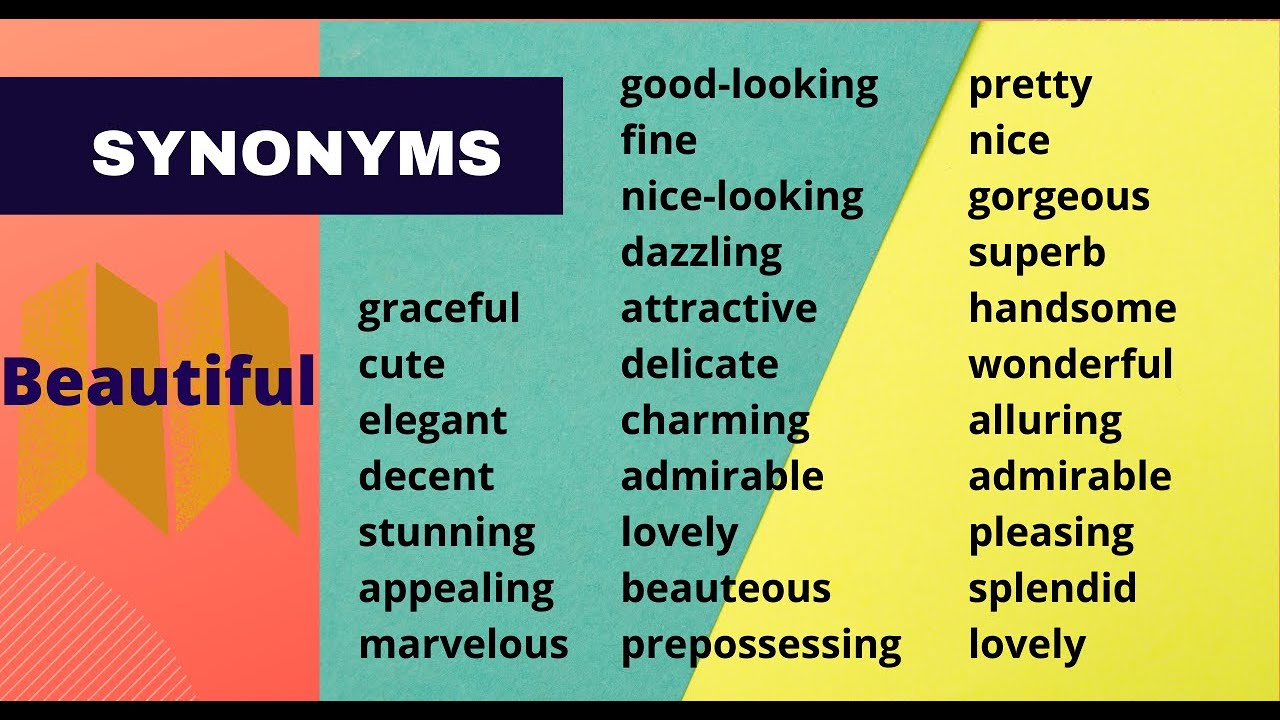 Synonyms of beautiful   ZaArabic   Synonyms for awesome, English ...