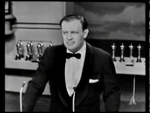 "Delbert Mann winning the Oscar® for Directing ""Marty"""