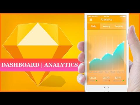 How to Design Dashboard Analytics of App in Sketch | Sketch App Tutorial