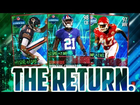 I'M BACK!! INSANE MADDEN COMBINE UPDATE PACK OPENING, TIPS, AND COMPILATION VIDEO!!