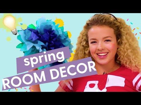 Spring Room Decor: DIY Paper Flowers, DIY Ant Farm, DIY String Lights   GoldieBlox