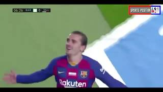 Griezmann goal assist with ter stegen vs mallorca