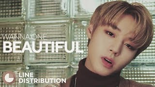 WANNA ONE Beautiful Line Distribution