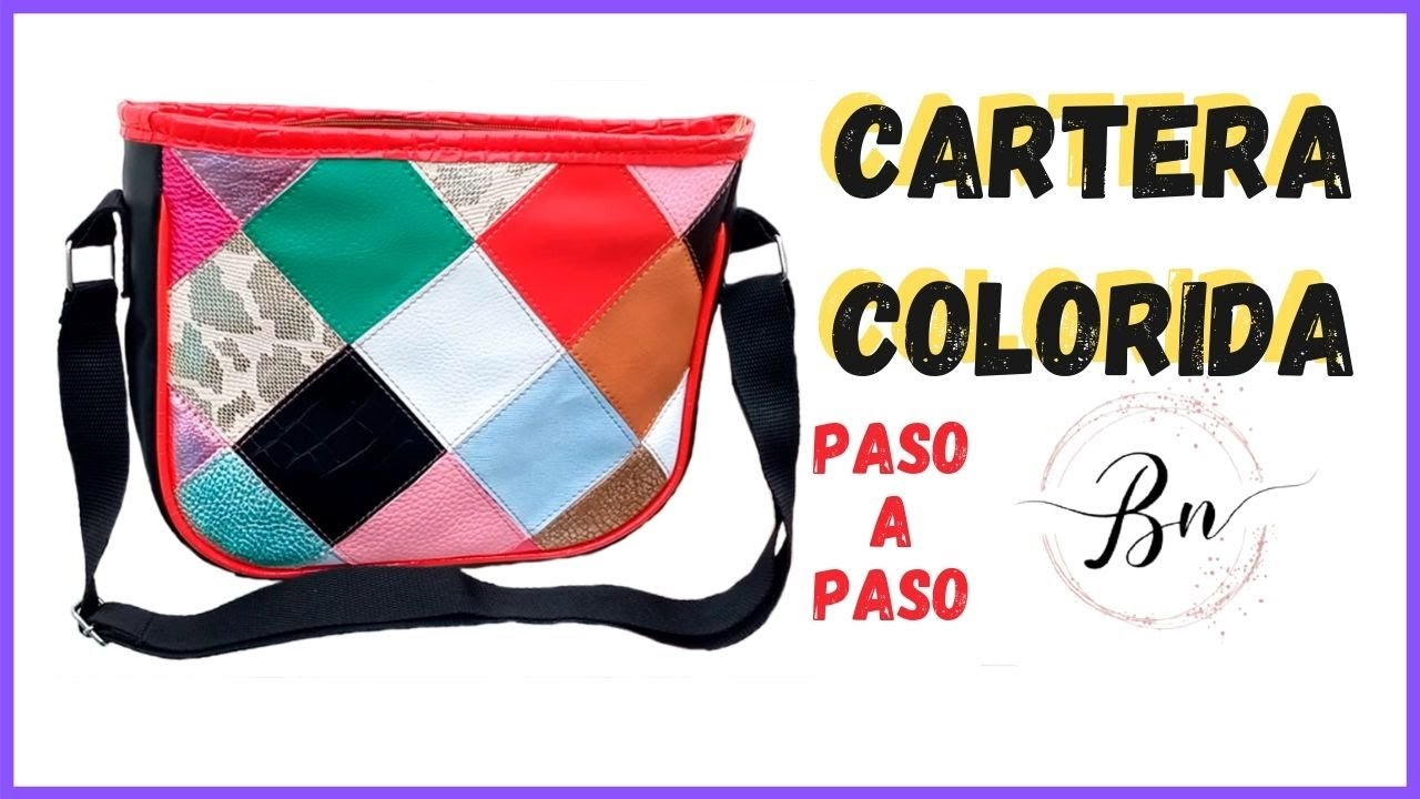 COMO HACER UNA CARTERA // BANDOLERA // CON RETAZOS PASO A PASO // MOLDES EN EL VIDEO // bnieves