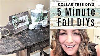 FALL DOLLAR TREE DIYs-  FALL THEMED DIYs - Quick & Easy