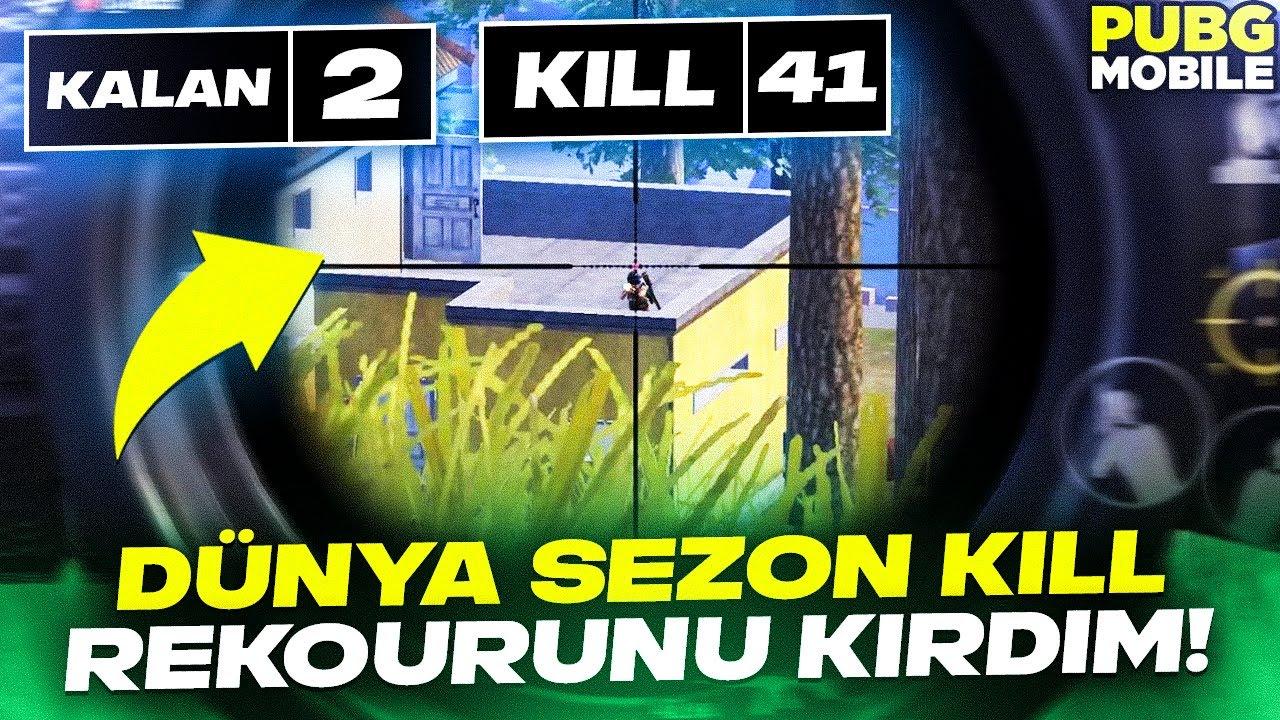 DÜNYA SEZON KİLL REKORUNU KIRDIM!!! | PUBG MOBILE