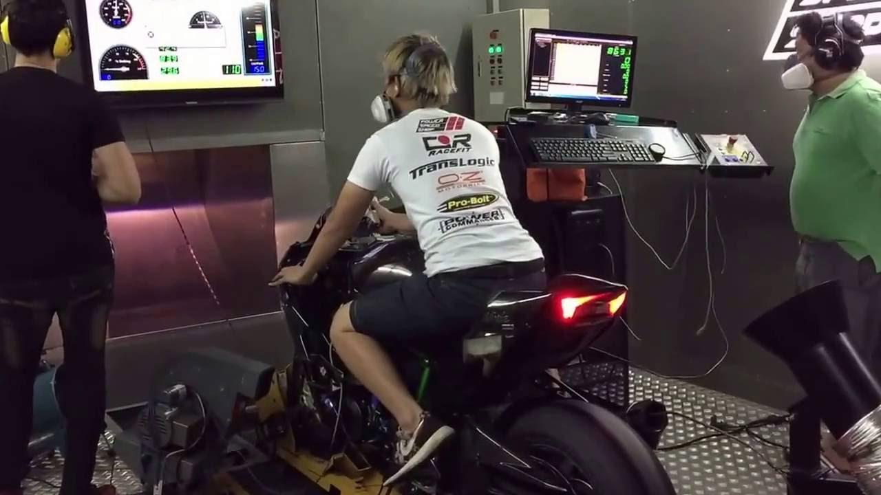 Kawasaki Ninja H2 Dyno Test 369 Kmh Youtube