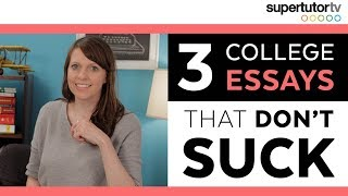 3 College Essays That WORK (and don't suck!): OWN The Common Application Essay thumbnail