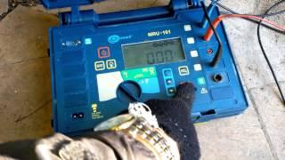 Измерение растекания тока контура заземления