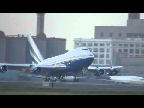 Las Vegas Sands Boeing 747SP-21 Arriving In Boston [HD] - July 29, 2013