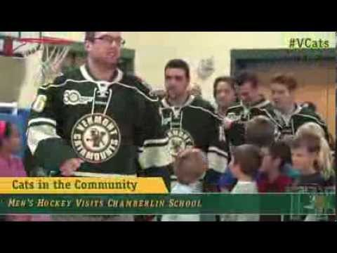Cats in the Community: Men's Hockey Visits Chamberlin School