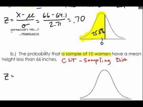 Finding Probability of a Sampling Distribution of Means Example 2 ...