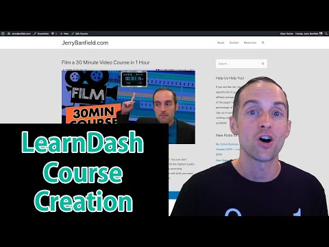 LearnDash Real Time Online Course Creation Tutorial thumbnail
