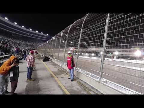 Track side at the texas motor speedway