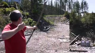 210 foot shot with 25lb PVC Bow