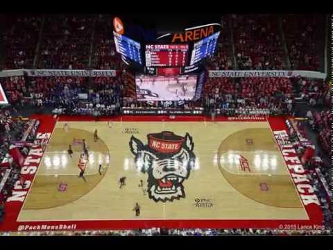 NC State Fans Rush the Court after Beating Duke! - YouTube
