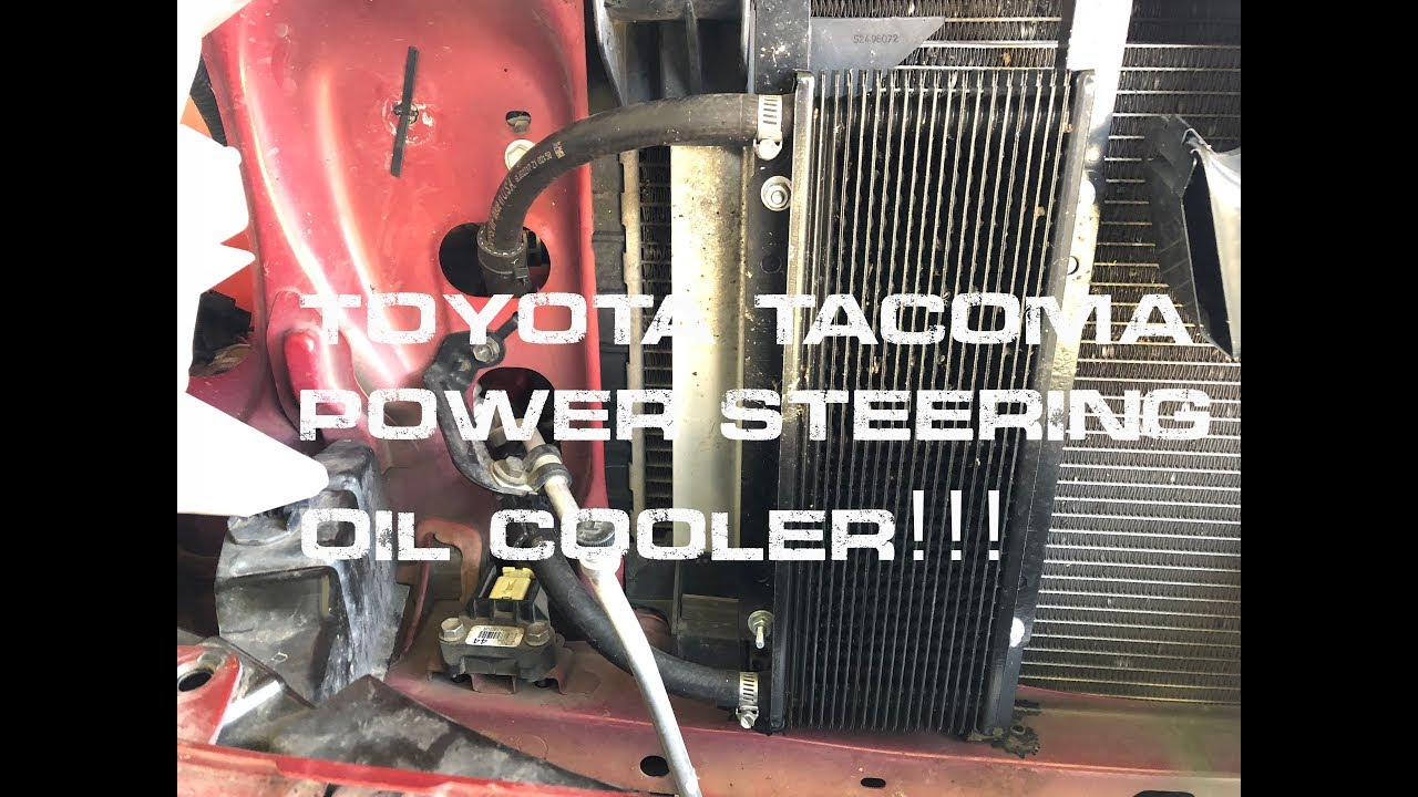 Toyota Tacoma Power Steering Oil Cooler Youtube