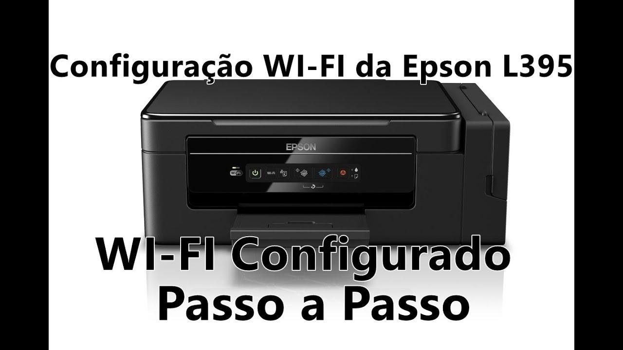 Como configurar o Wi fi da impressora Epson l 395 Ecotank