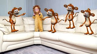 Five Little Monkeys | Nursery Rhymes & Kids Songs | Alice and Dima