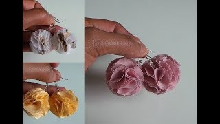 Recycle Scrap Fabric and Old Clothes into Pom Pom Earrings I RIBBONS