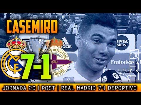 Declaraciones de CASEMIRO post Real Madrid 7-1 Deportivo (21/01/2018) | LIGA JORNADA 20