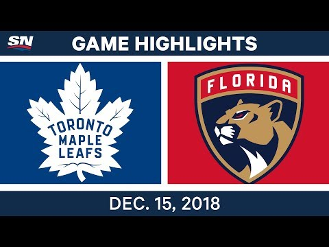 NHL Highlights | Maple Leafs vs. Panthers - Dec 15, 2018